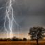 Blitz im Freien